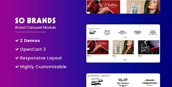 So Brands - Responsive Brand Carousel OpenCart Module