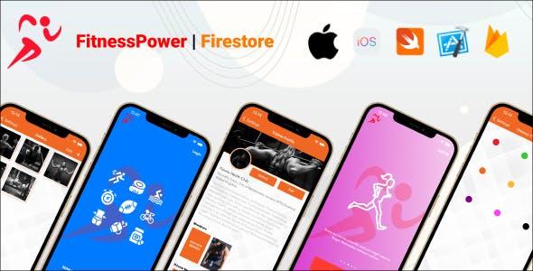 FitnessPower | Firebase Firestore | Fitness, Gym, Yoga iOS Full Application