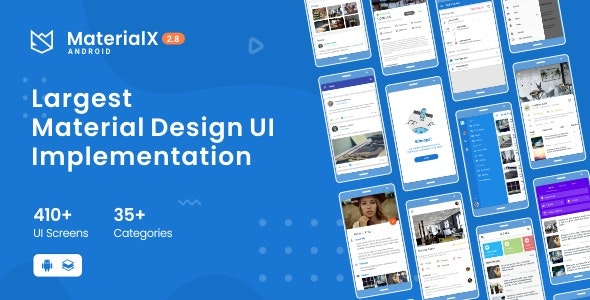 MaterialX - Android Material Design UI 2.8 - CodeCanyon Item for Sale