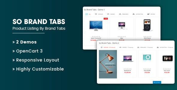 So Brand Tabs - Responsive OpenCart 3 Module