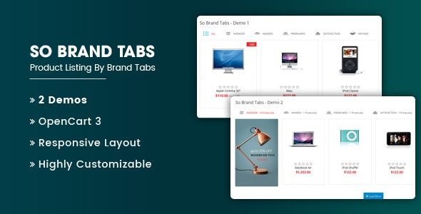 So Brand Tabs - Responsive OpenCart 3 Module - CodeCanyon Item for Sale
