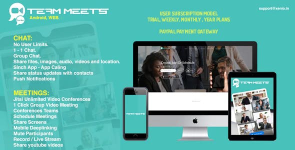 MeetsPro Subscription Android, iOS, Web Chat, Video Calls, Conferences & Webinars