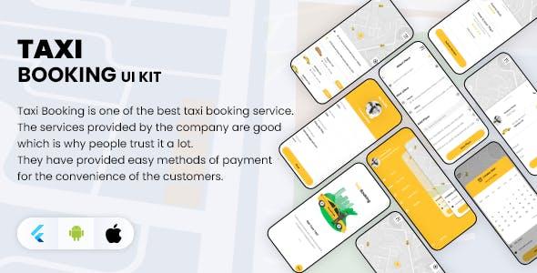 Flutter Taxi Booking App UI KIT