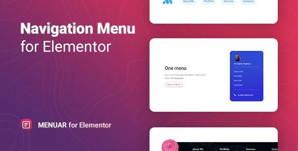 Menuar – Navigation Menu for Elementor - CodeCanyon Item for Sale