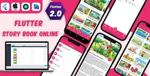 Flutter Story Book App with Admin panel   Flutter full source code   Ready to publish - CodeCanyon Item for Sale