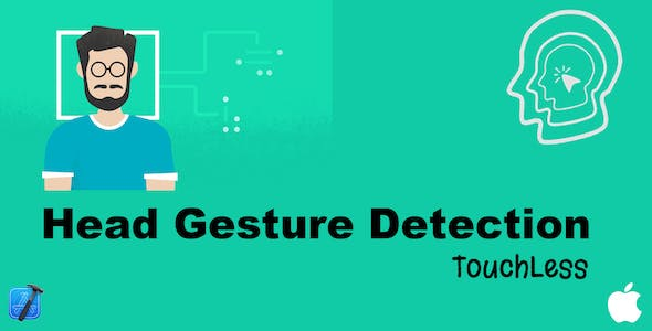 Head Gestures Swipe - Touchless - (Face Detection)