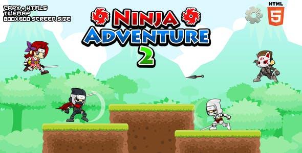 Ninja Adventure 2 - Construct 2 Html5 Game