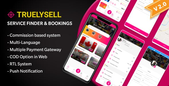 TruelySell - On-demand Service Marketplace, Nearby Service Finder and Bookings Web + Android + iOS