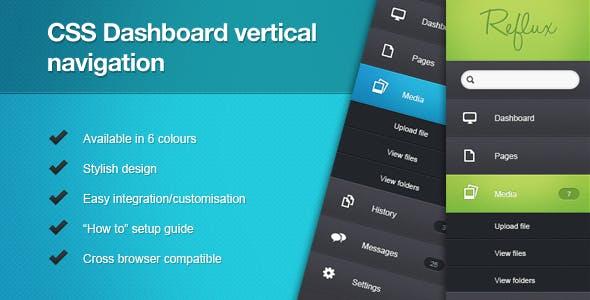 CSS Dashboard Vertical Navigation