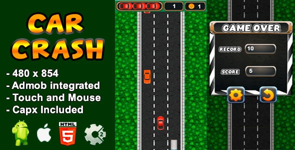 Car Crash - Html5 game and mobile - CodeCanyon Item for Sale