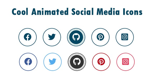 Cool Animated Social Media Icons - CodeCanyon Item for Sale