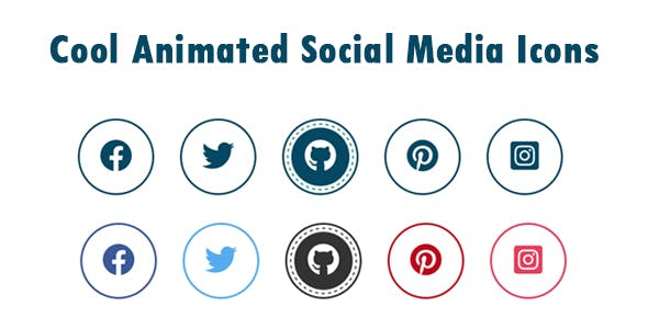Cool Animated Social Media Icons