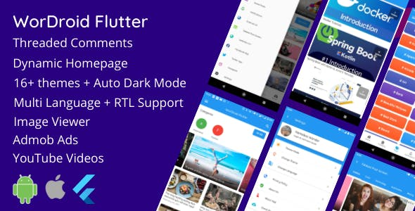 WorDroid Flutter - Full Wordpress App For Android and iOS