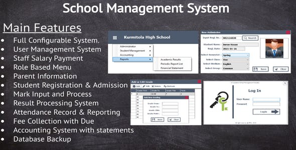 School Management System - Complete project with accounting