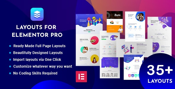 Layouts for Elementor Pro - CodeCanyon Item for Sale