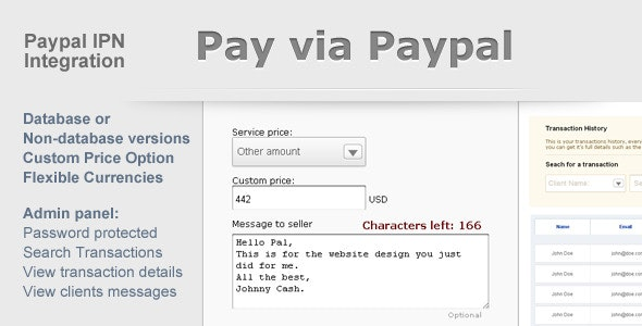 Paypal Payment Form with Admin Panel - CodeCanyon Item for Sale