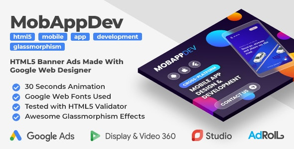 Mobile App Development - Animated HTML5 Banner Ad Templates (GWD) - CodeCanyon Item for Sale