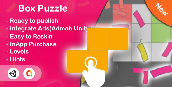Box Puzzle (Unity Game+Admob+iOS+Android)
