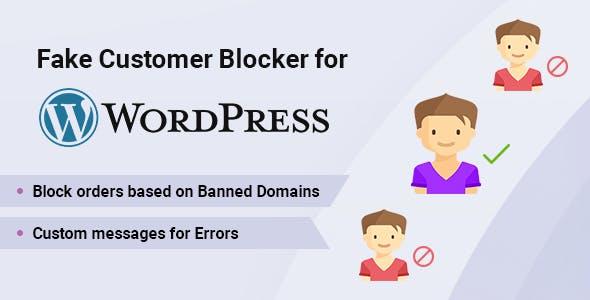Fake Customer Blocker for WordPress