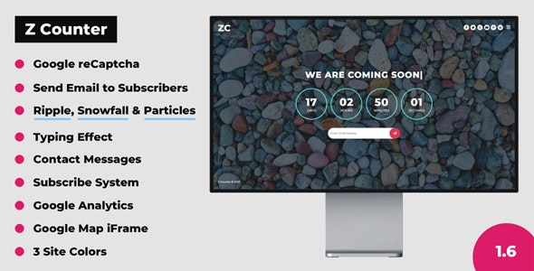 Z Counter - Coming Soon Countdown with Admin Panel - CodeCanyon Item for Sale