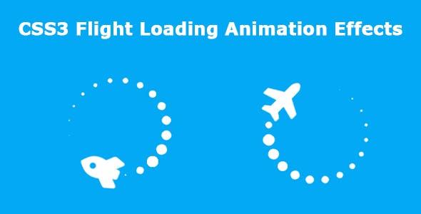 CSS3 Flight Loading Animation Effects