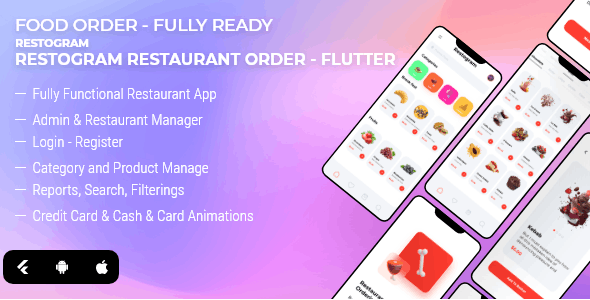 Restogram - Fully Functional Flutter Restaurant Order Application