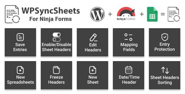 WPSyncSheets For Ninja Forms - Ninja Forms Google Spreadsheet Addon - CodeCanyon Item for Sale