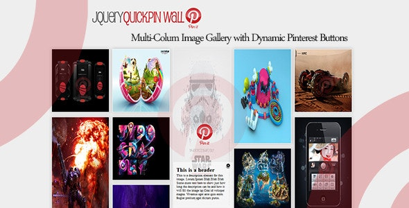 QuickPin Wall - Pinterest MultiColumn Gallery  - CodeCanyon Item for Sale