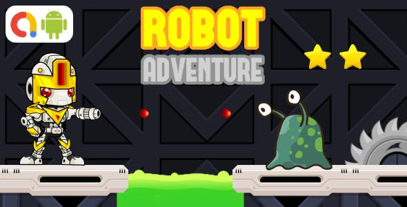 Robot Adventure Android Game with AdMob + Ready to Publish