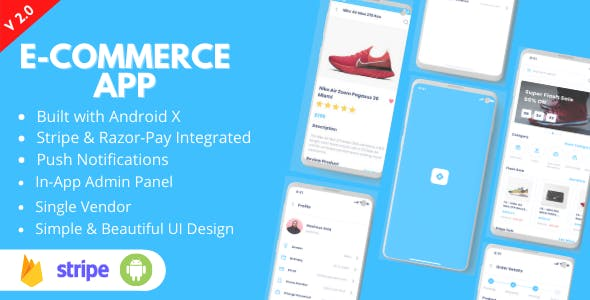 Ecommerce App - Android Online Shopping App for Single Vendors