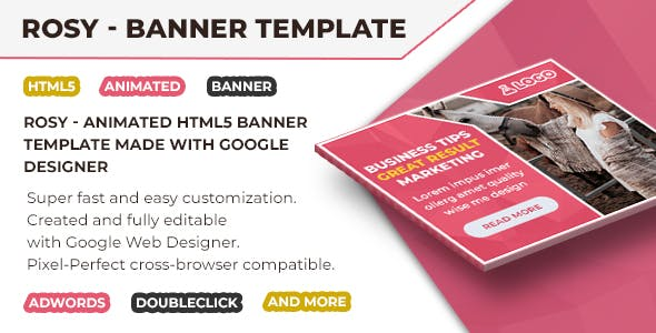 Rosy - HTML5 Animated Banner Ads Template GWD V3