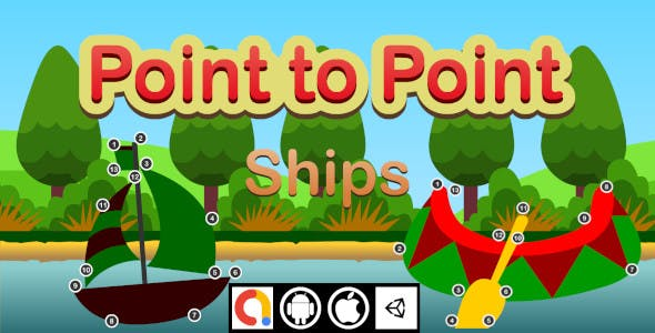 Edukida Point to Point – Ships Unity Kids Educational Game With Admob For Android and iOS