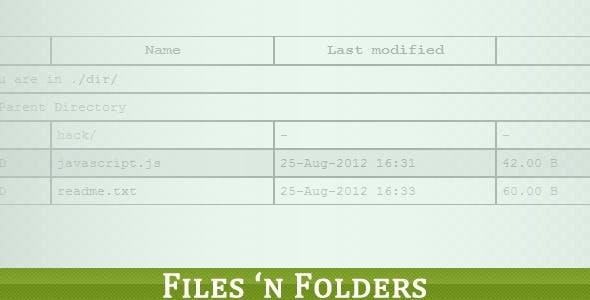 PHP List Files 'n Folders