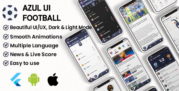 Flutter Football UI Kit: LiveScore & Chats Matches & News Sport ( ANDROID, IOS ) - CodeCanyon Item for Sale