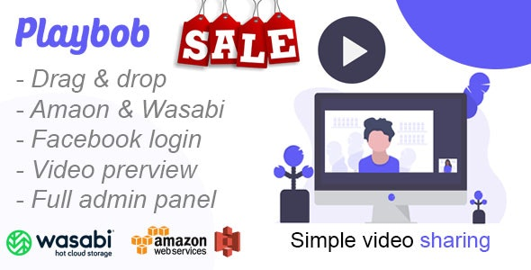 Playbob - Simple Video Sharing - CodeCanyon Item for Sale
