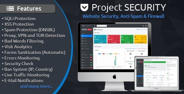 Project SECURITY – Website Security, Anti-Spam & Firewall