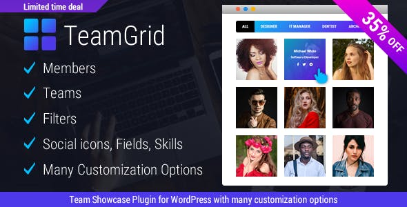 Team Grid - Team Member Showcase WordPress Plugin & Team Editor