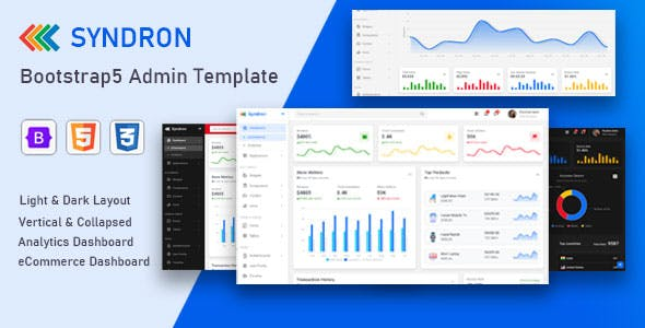 Syndron - Bootstrap5 Admin Template