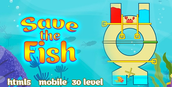 Save the Fish - pull the pin. Html5 & PC &  Mobile (adMob). C3p - CodeCanyon Item for Sale