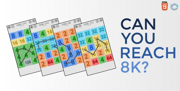 Can you reach 8K - HTML5 Casual game - CodeCanyon Item for Sale