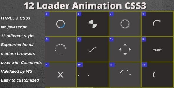 12 Loader Animation CSS3