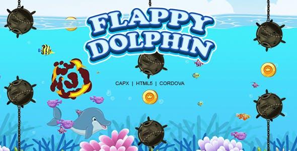 Flappy Dolphin Game (HTML5 | CAPX | Cordova)