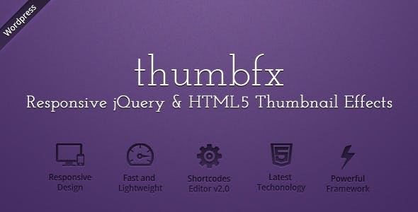 WP ThumbFx - Responsive jQuery Thumbnail Effects