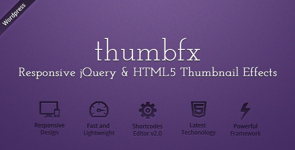 WP ThumbFx - Responsive jQuery Thumbnail Effects  - CodeCanyon Item for Sale