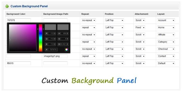 Custom Background Panel - CodeCanyon Item for Sale