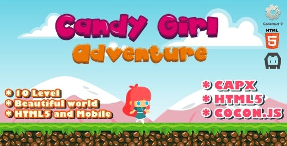Candy Girl Adventure - Construct 2 Html5 Game