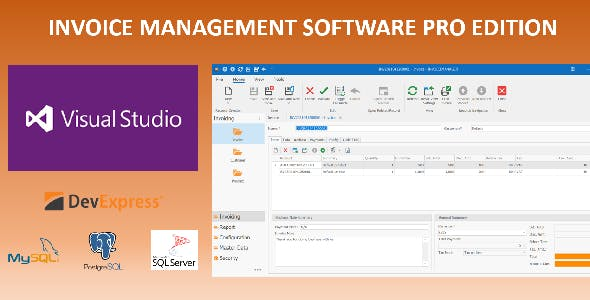 PRO Invoice Management Software in Desktop Application for Windows 10