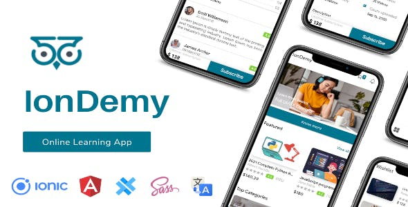 IonDemy   Ionic 5   Online Learning App Template