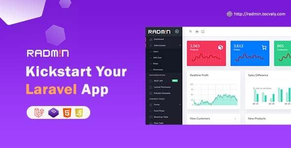 Radmin - Laravel Admin starter with REST API, User Roles & Permission - CodeCanyon Item for Sale