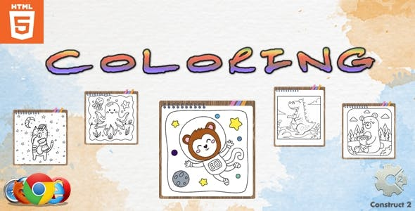 Coloring - Paint game - HTML5